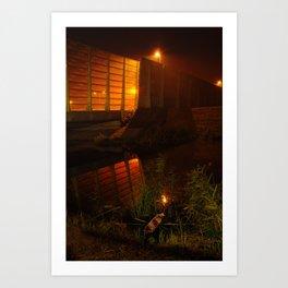 dutch highway nightshot Art Print