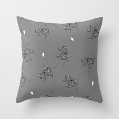 Rye Grey Pattern Throw Pillow