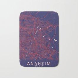 Anaheim, CA, USA, Blue, White, City, Map Bath Mat