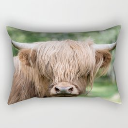 Portrait of a cute Scottish Highland Cattle Rectangular Pillow