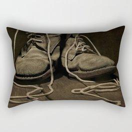 Old Brown Shoes Rectangular Pillow