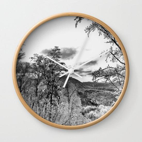 Vermont Winter Landscape Wall Clock