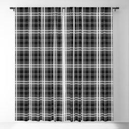 Black and White Mayzes Tartan Plaid Check Blackout Curtain