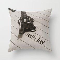 from paris... Throw Pillow