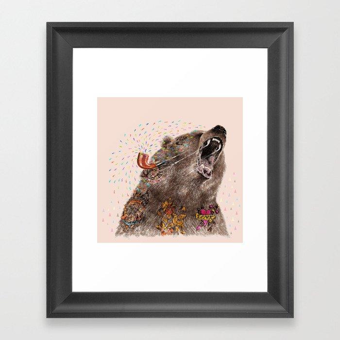Angry Bear II Framed Art Print