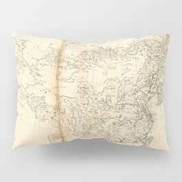 Map of China Chinese-Tartary & Tibet (1834) Pillow Sham