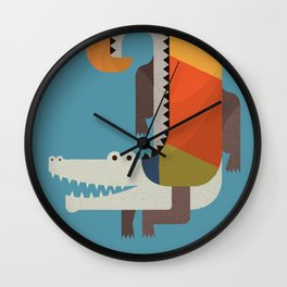 Crocodile Wall Clock