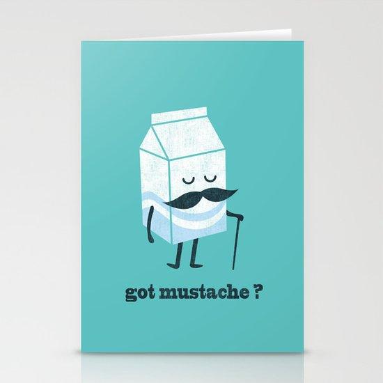 Got mustache? Stationery Cards