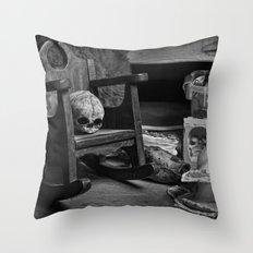 Rocking Skull Throw Pillow