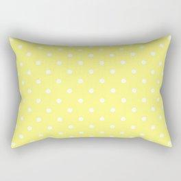 Butter Yellow Polka Dots Rectangular Pillow