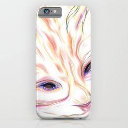 Pink & Coral Cat iPhone Case
