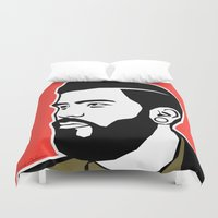 hipster Duvet Covers featuring hipster by mark ashkenazi