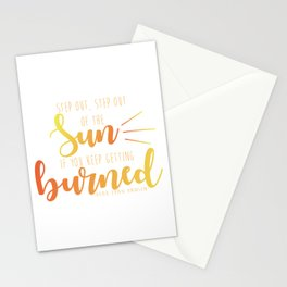 Step Out, Step Out Stationery Cards