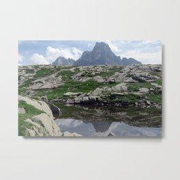 Alpine Pond Alps Peaks Mountain Metal Print
