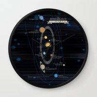 astronomy Wall Clocks featuring Mythology of Astronomy by Pygmy Creative