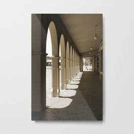 Shadows and Arches Metal Print