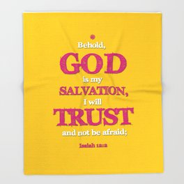 TRUST and not be afraid Throw Blanket