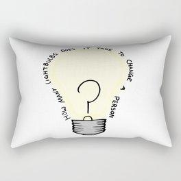 How Many Lightbulbs Rectangular Pillow