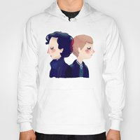 221b Hoodies featuring 221B by Nan Lawson