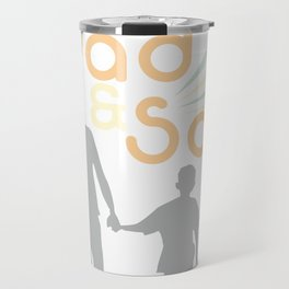 Dad ans Son Hand in Hand Travel Mug
