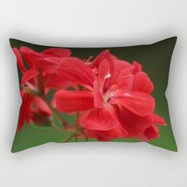 Red Geranium Flowers Rectangular Pillow