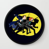 mulder Wall Clocks featuring Great Snakes, Mulder. by Anna Valle