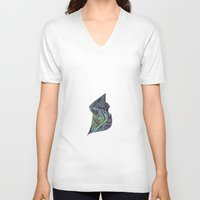 cosmic V-neck T-shirts featuring cosmic by darsha83