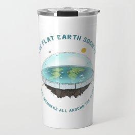 The Flat Earth has members all around the globe Travel Mug