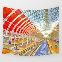 Paddington Railway Station Pop Art Wall Tapestry