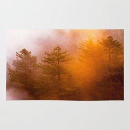 Golden Morning Glory Forest Rug