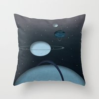 planets Throw Pillows featuring Planets by oldi