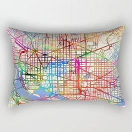 Washington DC Street Map Rectangular Pillow