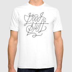 Good Stuff SMALL Mens Fitted Tee White
