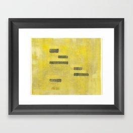 Stasis Gray & Gold 3 Framed Art Print