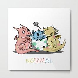 Magical Dragons Autism Awareness Day Autistic Gift Metal Print