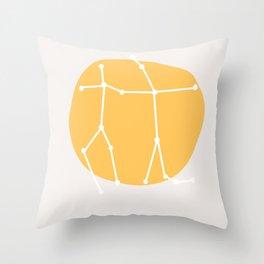 Sun in Gemini Throw Pillow