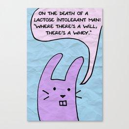 The Wisecrack Wabbit Canvas Print