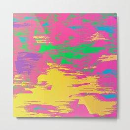 Colour Abstract Vaporwave 654 Metal Print