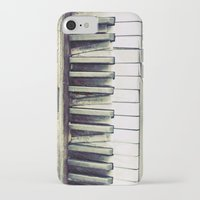 piano iPhone & iPod Cases featuring piano by hilde.