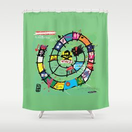 Gioco dell'Oca - The Game of the Goose (RDVM06) Limited Edition Shower Curtain