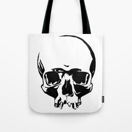 Black & White Simple Skull Tote Bag