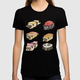 Sushi Pug Watercolor T-shirt