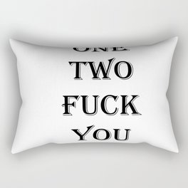 one two Rectangular Pillow