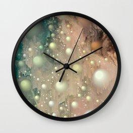 Pearl Glitch Art Wall Clock