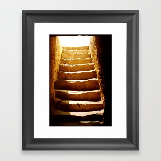 Steps to tomb Framed Art Print