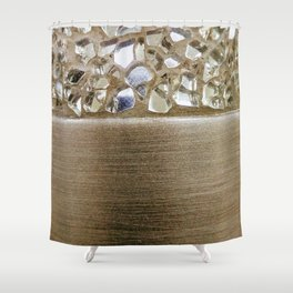 Gold Iridescence and Mirrors Shower Curtain