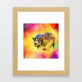 Jazzy Pig Colorful Animal Art by Jai Johnson Framed Art Print