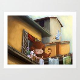 """hanging books"" Art Print"