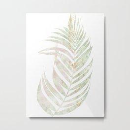 Light Tropical Greenery Metal Print