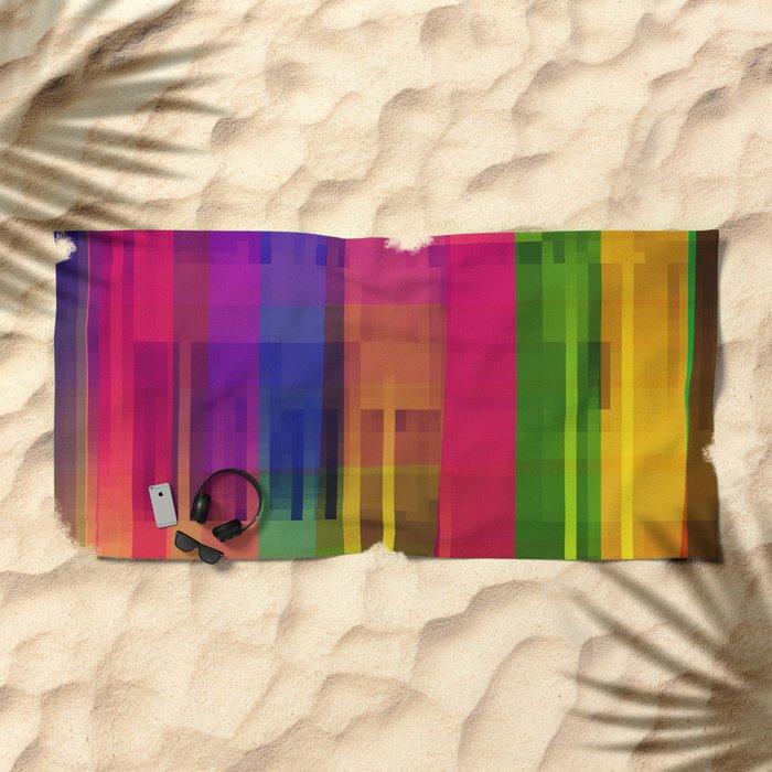 pushin' color Beach Towel
